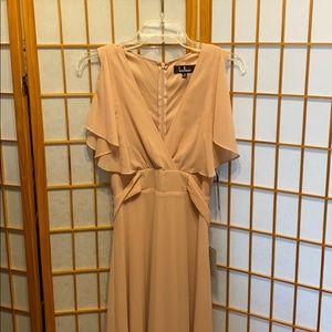 Lulus Flutter Sleeve Georgette Gown